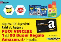 Logo Con Raid e Autan vinci buoni Amazon da 50€