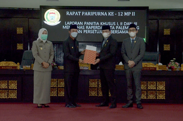 DPRD Setujui Tiga Raperda yang Diajukan Pemkot Palembang