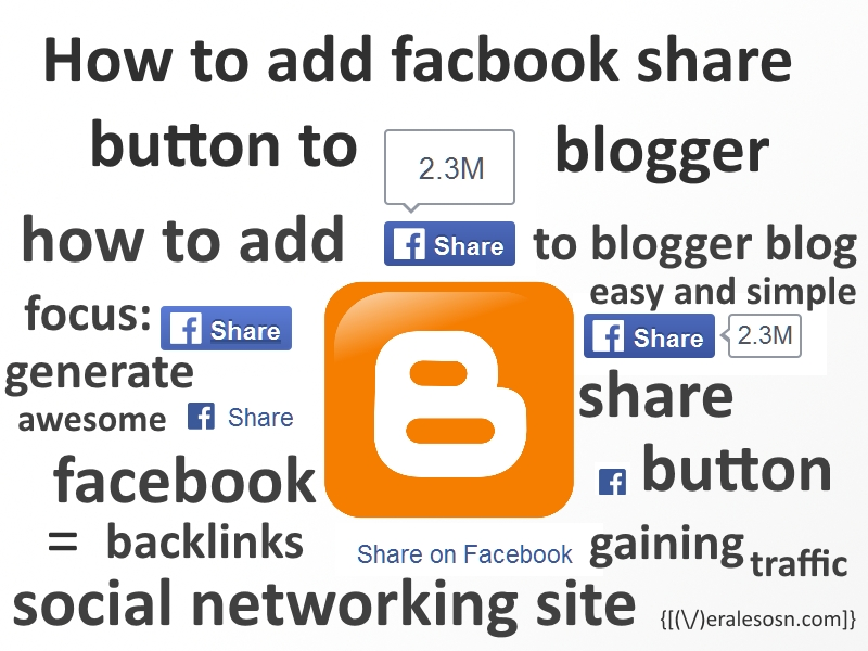 how to add facebook share button to blogger blog meralesson