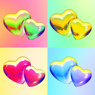 hearts pop art