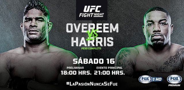 UFC Fight Night: Harris vs. Overeem en Vivo por FOX Sports Premium