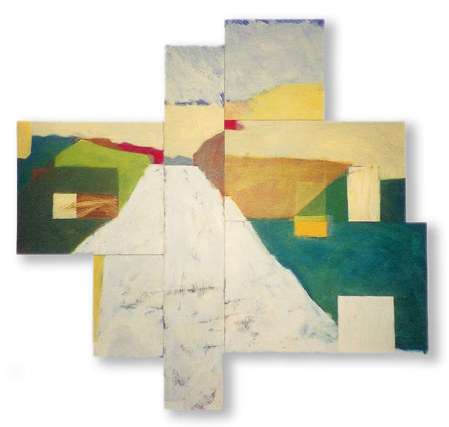On the Road - Abstract Painting - Rosemary Marchetta