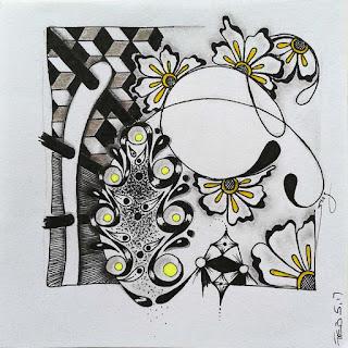 Tangle pattern refresher 52 Beeline, Henna Drum, Cvetic, Maylea, Girdy