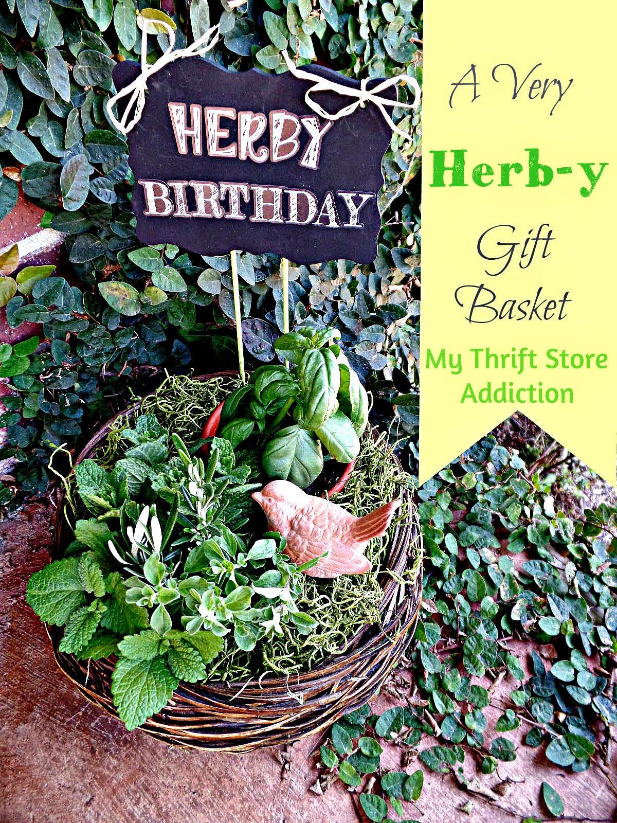 Herb gift basket