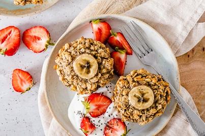 Oat Chia Banana Breakfast Muffin