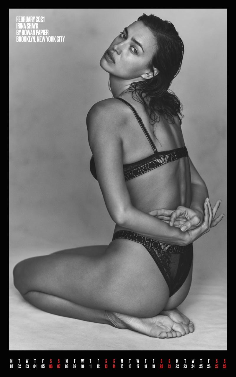 Irina Shayk for February. Photo: Rowan Papier for V Magazine