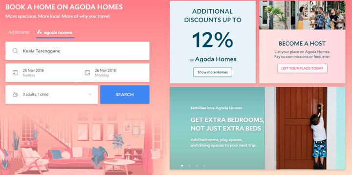 Laman Web Agoda Homes