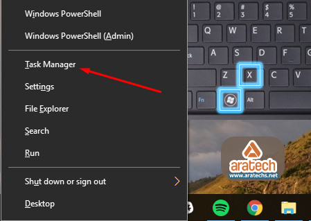 8 طرق لفتح مدير مهام ويندوز Windows Task Manager في Win10