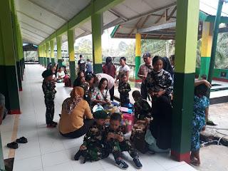 Pos Kotis Satgas Pamtas 643 Diserbu Anak-anak PAUD Wanara Sakti