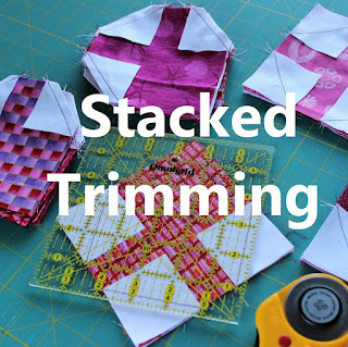 Stacked Trimming of quilt units by QuiltFabrication