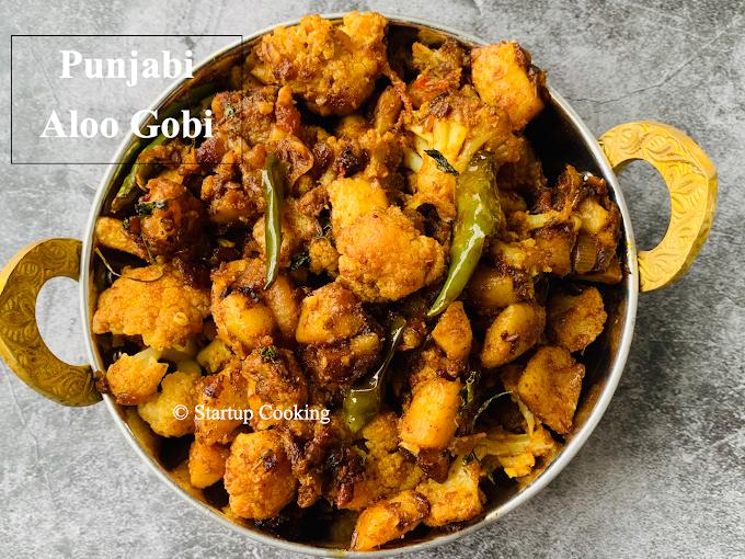 Aloo Gobi Recipe | Punjabi Dry Aloo Gobhi Masala | Startup Cooking