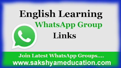 Learning Spoken English Whatsapp Groups Link-2020