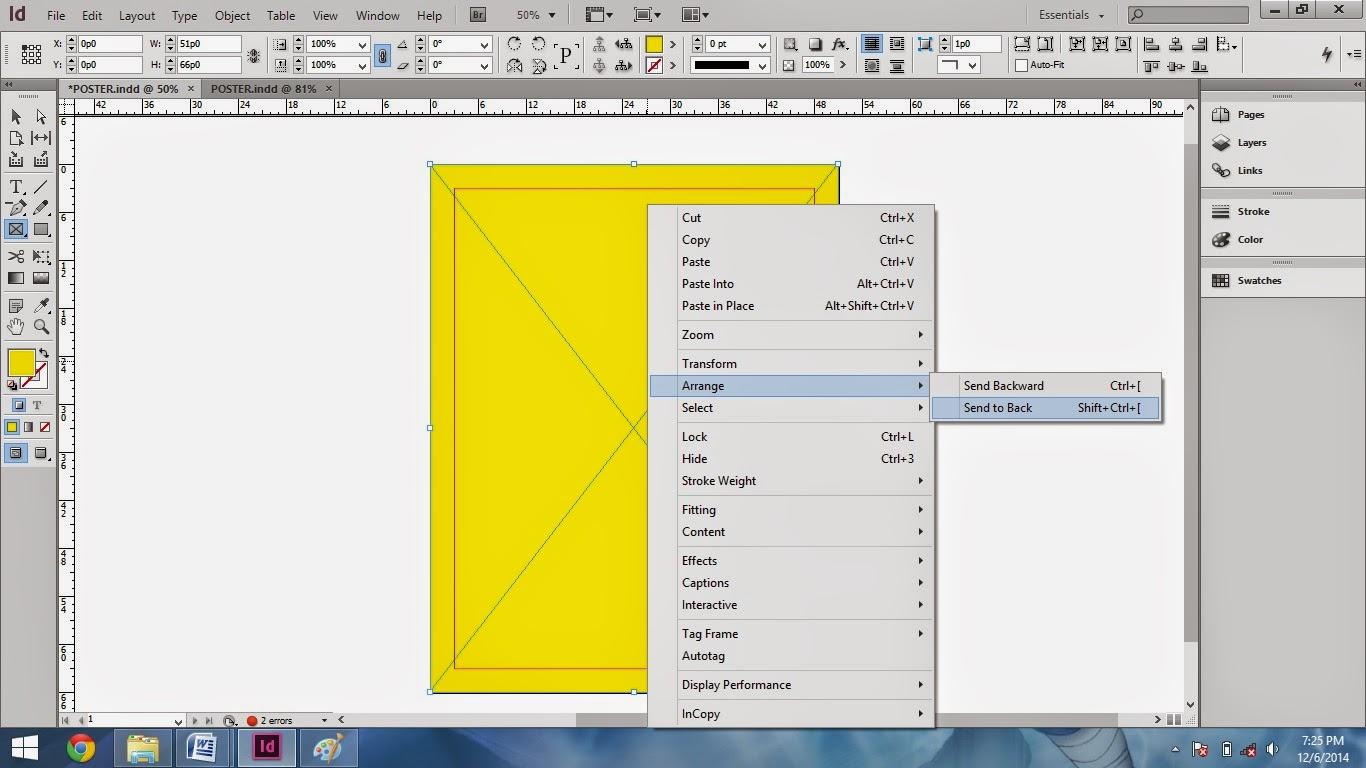 mengatur elemen gambar agar tidak menutupi desain poster_tutorial cara membuat poster di adobe indesign