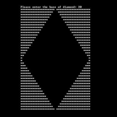 Empty Diamond Shape C++
