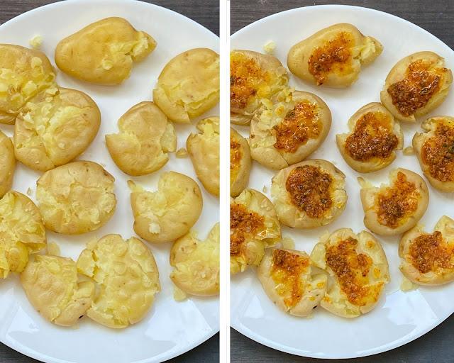 Air Fried Masala Smashed Potatoes steps 4
