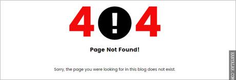 Pesan Error HTTP 404 Not Found