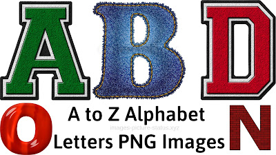 150+ A to Z Alphabet Letters PNG Images Download free