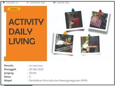 Download RPP Daring Pendidikan Pancasila (PKN) Kelas 5 SD