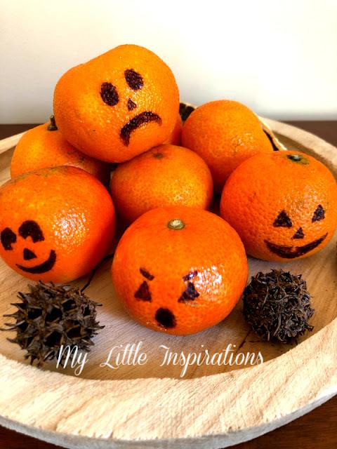Centrotavola per Halloween con Mandarini - insieme 1 - MLI