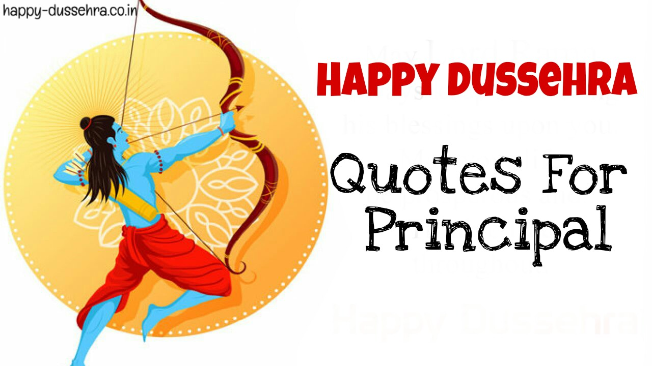 Happy Dasara Quotes For Teacher, Principal