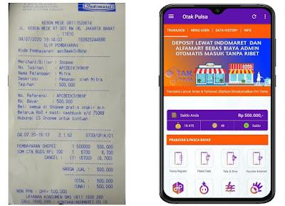 aplikasi agen pulsa yang bisa bayar di alfamart & indomaret