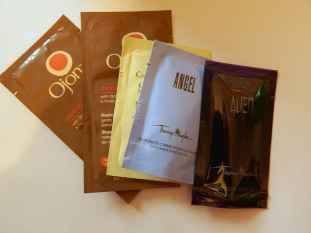 various samples sachets