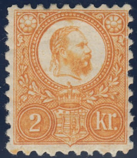 Hungarian stamps depicting Franz Joseph 2 Kronen