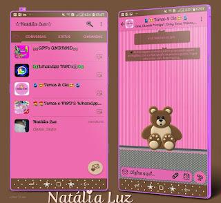 Teddy Bear Cute Theme For YOWhatsApp & Fouad WhatsApp By Natalia Luz