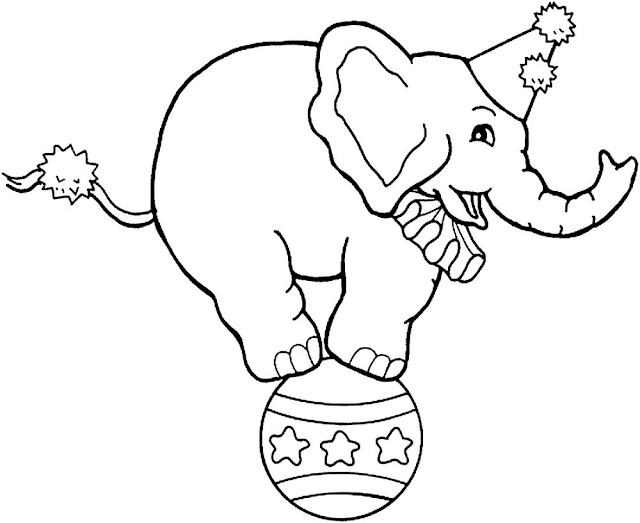 Gambar Mewarnai Circus Untuk Anak - 4