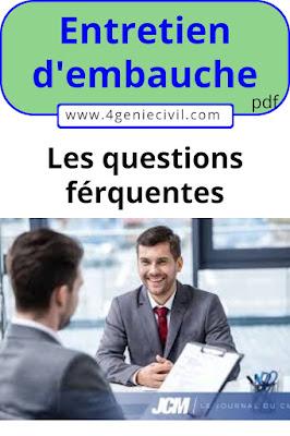 Les Questions fréquentes au cours d'un entretien d'embauche