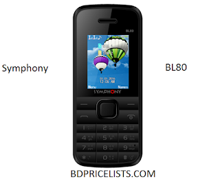 Symphony BL80 Mobile Price & Full Specifications In Bangladesh