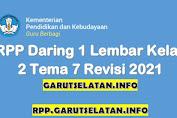 RPP Daring 1 Lembar SD/MI Kelas 2 Tema 7 Revisi 2021