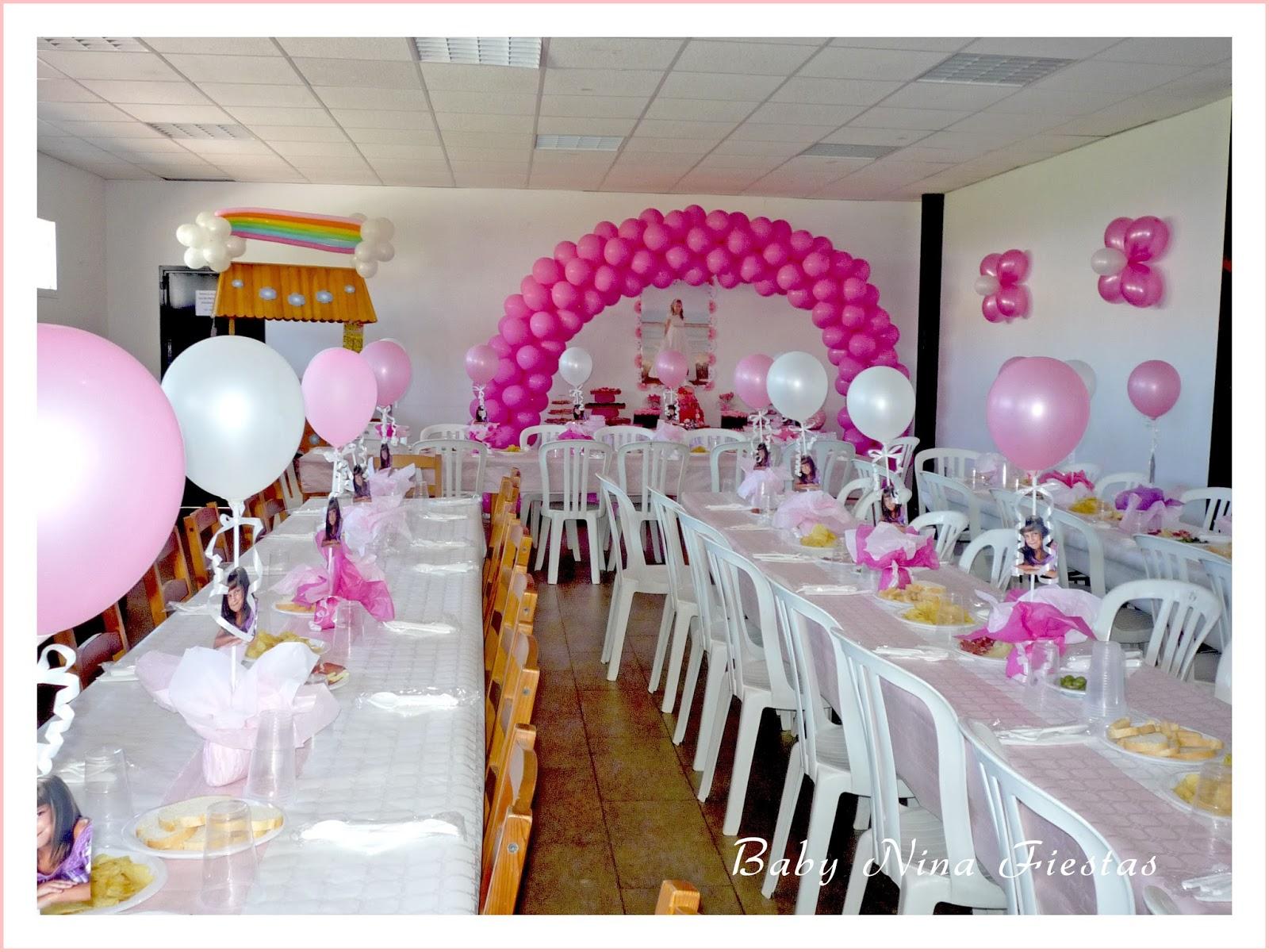 Baby nina fiestas decoraci n comuni n estrella for Decoracion globos comunion