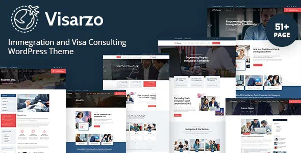 Best Immigration and Visa Consulting WordPress Theme