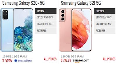 Samsung Galaxy S21 Serisi Telefonlar ve Özellikleri - Samsung Galaxy S20+ Plus ve Samsung Galaxy S21 5G Karşılaştırması