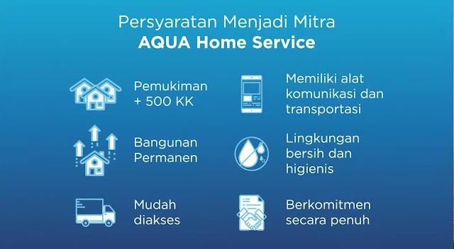 Syarat bergabung dengan AQUA Home Service