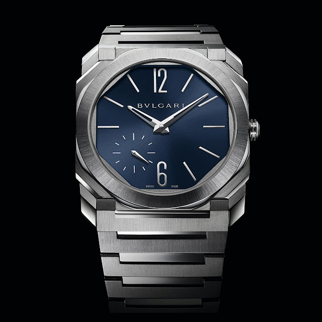 Bulgari Octo Finissimo Automatic in Satin-Polished Steel with Blue dial ref. 103431