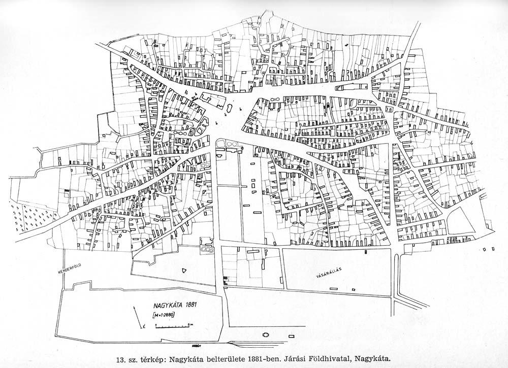 nagykáta térkép Nagykáta képes emlékezete: Egy régi térkép.
