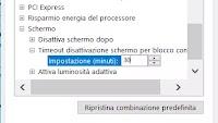 Cambiare il Timeout blocco e spegnimento schermo in Windows 10