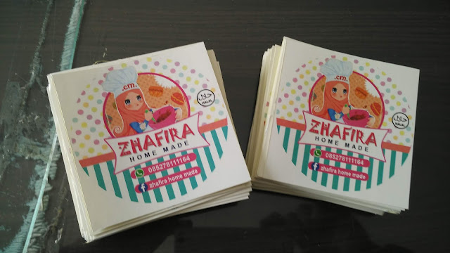 Stiker Label Home Made Zhafira