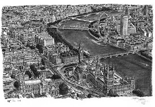 Stephen Wiltshire retrato de Londres