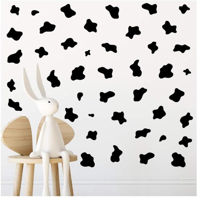 Adhesivo - pared - estampado - vaca - vacaslecheras.net