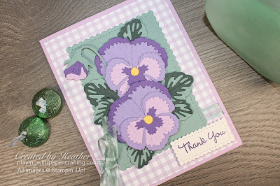 thank you card with pansy dies 3