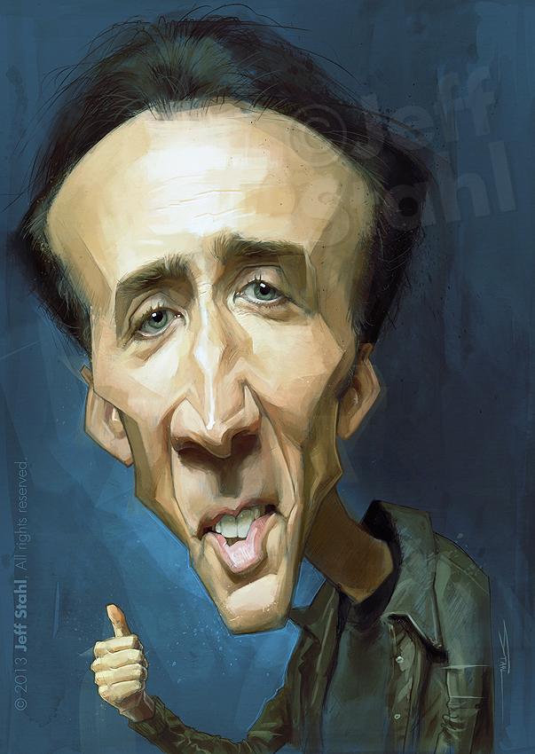 """""""Nicolas Cage"""" por Jeff Stahl"""