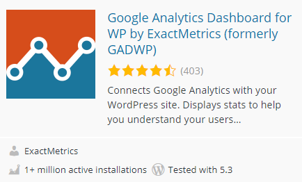 Google Analytics Dashboard for WP by ExactMetrics (formerly GADWP)