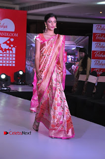 South Indian Celebrities Pos at Love For Handloom Collection Fashion Show  0139.jpg