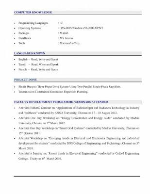 Modern CV Resume for Teachers 2