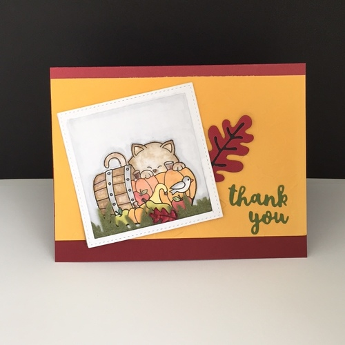 Thank you by Debbie features Autumn Leaves and Autumn Newton by Newton's Nook Designs; #newtonsnook