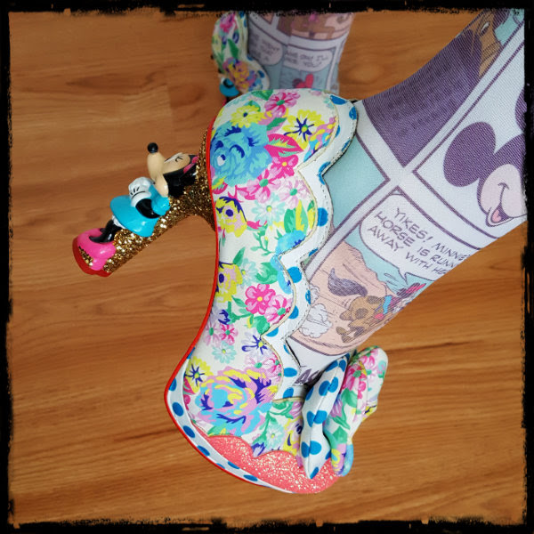 irregular choice minnie mouse heel detail