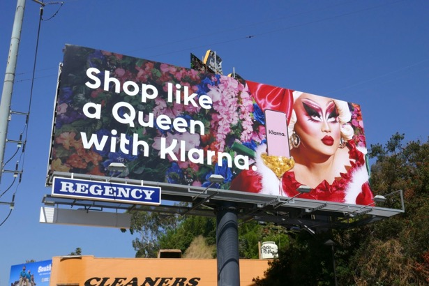 Shop like Queen Klarna Kim Chi billboard